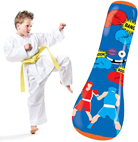 Inflatable Punching Bag Kids | Toddler Punching Bag | Kids Punching Bag Inflatable | Kids Inflatable Punching Bag | Kids Punching Bag Inflatable | Extra Large 50 Inches Tall | Exercise & Stress Relief