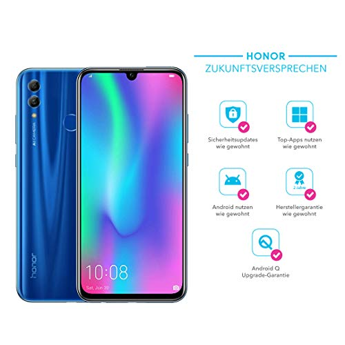 HONOR 10 Lite 64 GB Smartphone BUNDLE mit 24MP AI Selfie Kamera (6,21 Zoll),Dual-Kamera, Dual-SIM, Android 9.0) Sapphire Blue + gratis Protective Cover [Exklusiv bei Amazon] - Deutsche Version