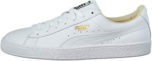 PUMA Men's Basket Classic LFS Fashion Sneaker, White-White, 9.5 M US