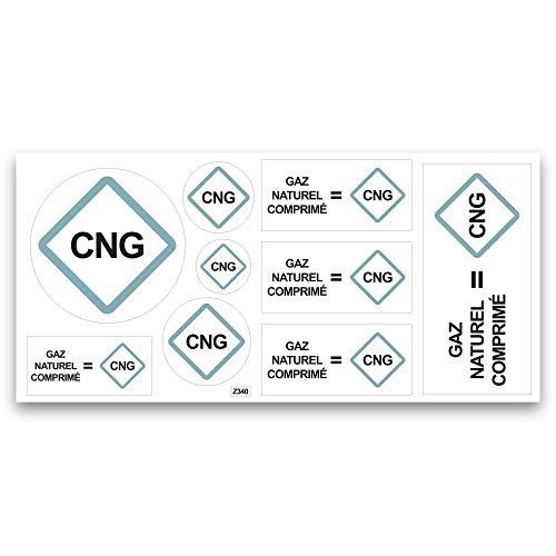 Aufkleber für Erdgas, CNG