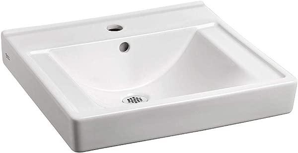 American Standard 9024001EC 020 Decorum Ceramic Wall Mounted Rectangular Bathroom Sink 20 06 L X 18 25 W X 5 H White