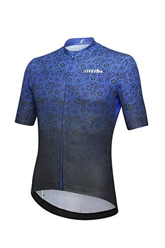 Zero Rh+ Fashion Lab, Abbigliamento Man Bike Jersey Uomo, Gear Black/Cobalt Blue, XXL
