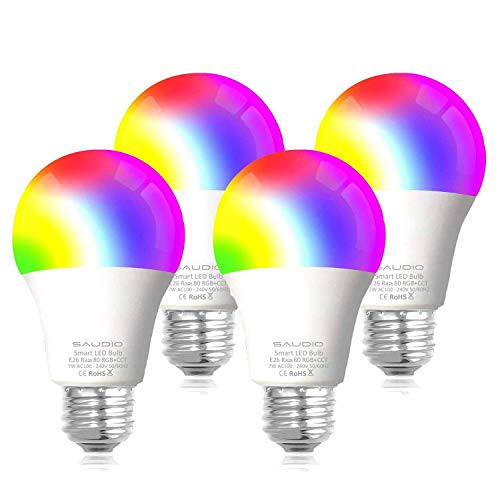 Our #5 Pick is the Saudio Smart Wi-Fi Bulb 4-Pack