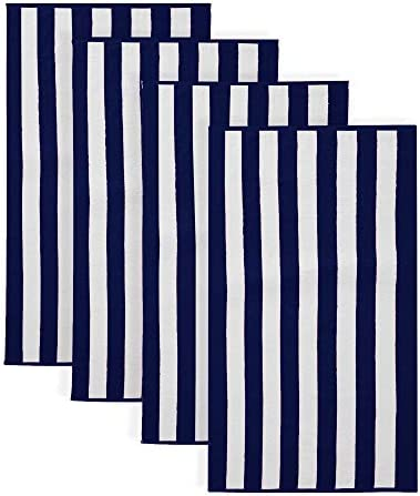 100 Cotton Cabana Stripe Beach Towel Soft Absorbent Quick Dry Towel Set Diani Collection 4 Pack product image
