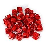 Azulejos de la pared del piso, 100 piezas de clips de plástico Separadores de azulejos de la pared del piso Herramientas del sistema de nivelación plana del azulejo de la correa(Gorra DL-F02 roja)