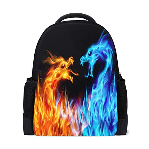 ALAZA Dragon Fire Casual Backpack Waterproof Travel Daypack Children School Bag