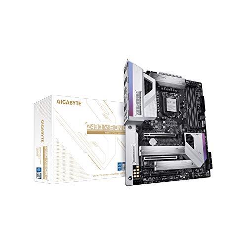 GIGABYTE Z490 Vision G (Intel LGA1200/Z490/ATX/2xM.2/Realtek ALC1220-VB/Intel LAN/SATA 6Gb/s/USB 3.2 Gen 2/SLI Support/HDMI/Motherboard)