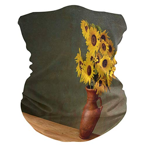 MJDIY nek balaclava, zonnebloem in een keramische vaas, hoofddeksel en hoofddeksel, decoratieve gassen voor outdoor-activiteiten