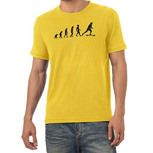Texlab Longboard Evolution - Herren T-Shirt, Größe S, Gelb