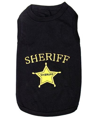 Parisian Pet Sheriff Dog T-Shirt, L