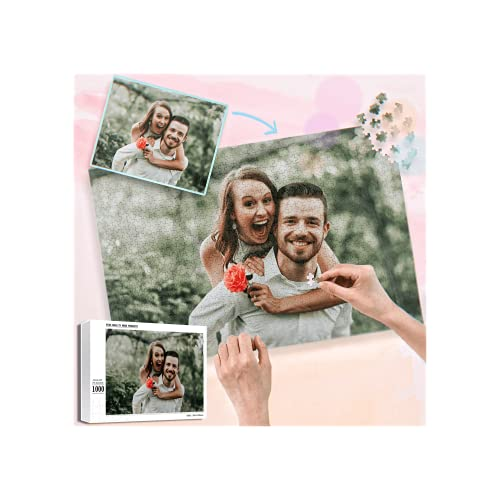 Personalized Puzzle, Custom Puzzles from Photos 1000 Pieces from Photos for Adult and Kids Family, Graduation, Wedding