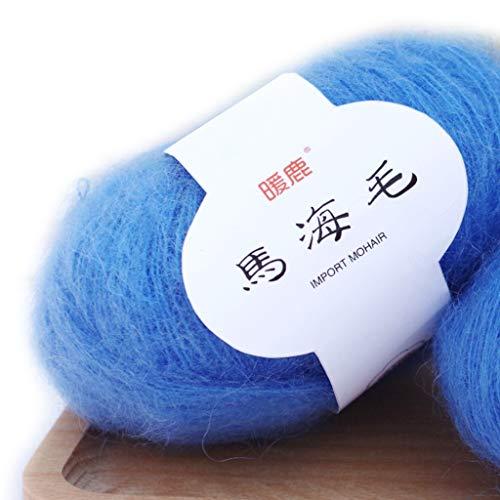 Fagu Soft Mohair Cashmere Hilo de Lana para Tejer DIY Chal Bufanda Suministros de Hilo de Ganchillo