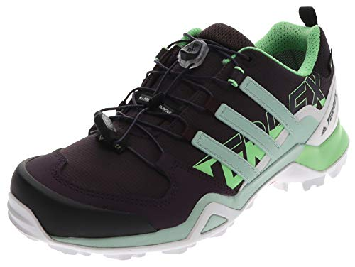 adidas Damen Terrex Swift R2 Gore-TEX Walking Shoe, Noble Purple/Green Tint/Glory Mint, 41 1/3 EU