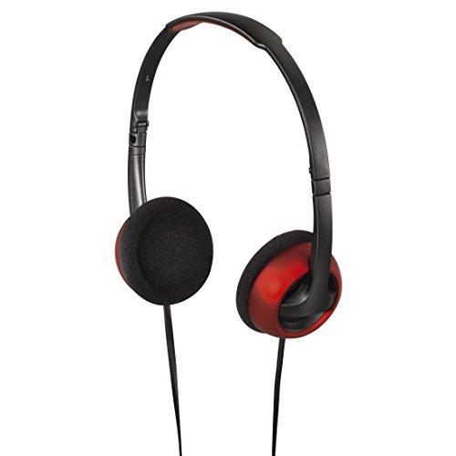 Hama Kopfhörer Street (On-Ear, Stereo, 1,20 m Kabel, 3,5 mm Klinke, faltbar) schwarz/rot