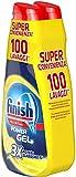 Finish Powergel, Gel Detersivo per Lavastoviglie Liquido, Multiazione, Limone Sgrassante, ...