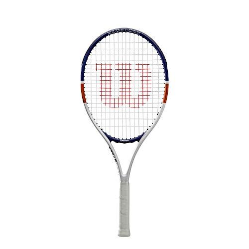 "Wilson Roland Garros Elite Competition Wr038910H Racchetta da Tennis, Bianco lu/Arancione 26"""