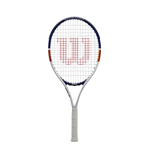 Wilson Roland Garros Elite Competition Wr038910H Racchetta da Tennis, Bianco lu/Arancione 26'