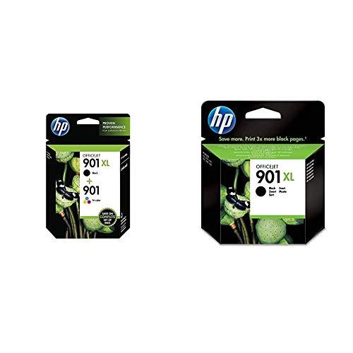 HP 901XL e 901 SD519AE Confezione da 2 Cartucce Originali per Stampanti a Getto di Inchiostro & 901XL CC654AE Cartuccia Originale per Stampanti a Getto di Inchiostro