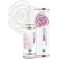 Alteya Organic Agua Floral de Rosa (Rosa Damascena) 100 ml – Spray - 100% Puro Natural Bio Producto con Certificado USDA Destilado al Vapor de Frescas Cosechas a Mano Flores de Rosa Vendidas Directamente por el Cultivador y Destilador Alteya Organics desde el Corazуn del Valle de las Rosas en Bulgaria