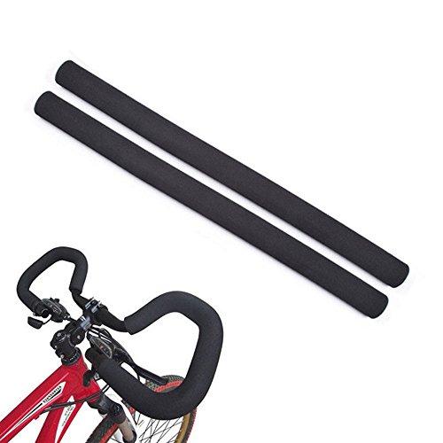 Racing Puños para Manillar de Bicicleta, Esponja de Goma Flexible para Manillar de Bicicleta,2 Unidades (Diámetro Exterior:33 mm, Diámetro Interior:21mm)