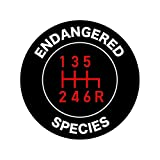 fagraphix Stick Shift Endangered Species Sticker Decal Self Adhesive Manual Transmission 4.00' Wide
