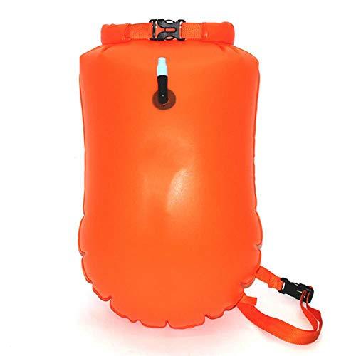 Outdoor Storage Waterproof Dry Bag Backpack Inflatable Swimming Buoy Float Raft Kayak River Trekking Bag,Orange