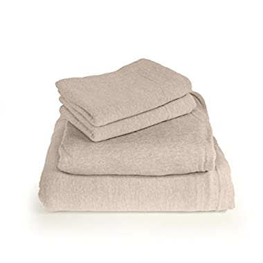 Cotton Rich T-Shirt Soft Heather Jersey Knit Sheet set - All Season Bed Sheets, Super Comfortable, Warm and Cozy By Morgan Home Fashions (Queen, Heather Taupe)