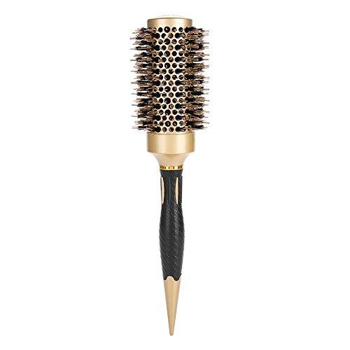 Portátil antiestático redondo peine de pelo redondo portátil barril cepillo de pelo calor para mujeres y mí herramientas de peinado volumen para mujeres y hombres