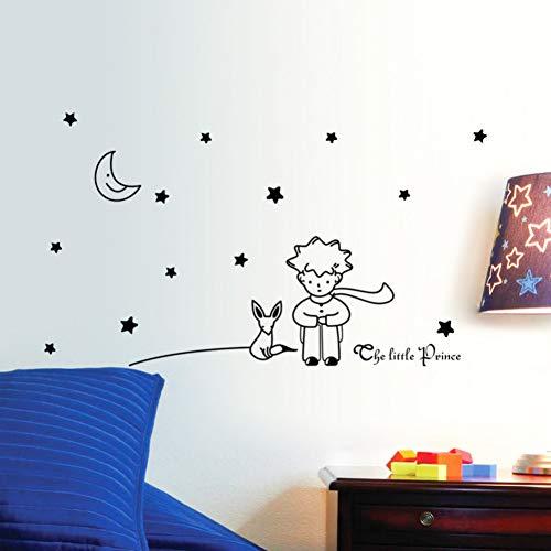 VIOYO Livre Populaire Conte de fées Le Petit Prince avec Fox Moon Star Stickers Muraux pour Enfants Chambres Home Decor Cadeau Jouet Vinyle Stickers Muraux