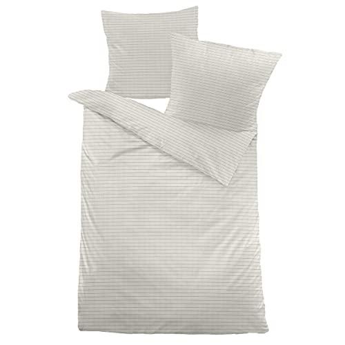 Dormisette Hanf Bettwäsche Salford beige 1 Bettbezug 155 x 220 cm + 1 Kissenbezug 80 x 80 cm