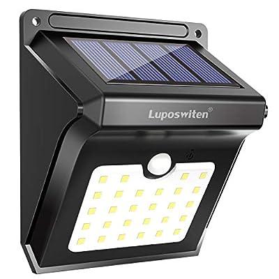 Luposwiten Outdoor Motion Sensor Solar Lights