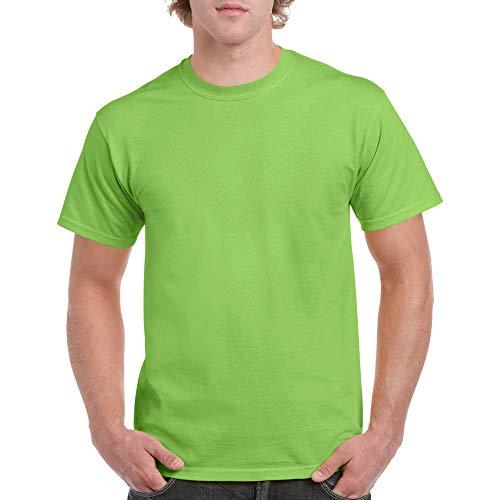 Gildan Men's Heavy Cotton T-Shirt, Style G5000, 2-Pack, Lime, X-Large