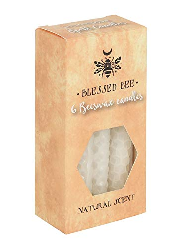 Blessed Bee White Beeswax Spell Peace & Happiness Candle Cream 5x11cm