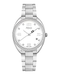 Momento White Dial with 8 Diamonds Bracelet Watch