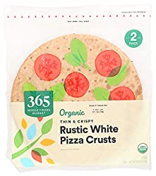 365 by Whole Foods Market, Organic Pizza Crusts, Thin & Crispy - Rustic White (2 Pack), 1 Ounce
