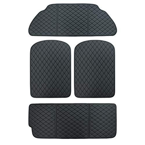 Tesla Model X Kofferraummatte für vorne und hinten mit 3. Reihen Rücksitzschutz, für Modell X 6 und 7-Sitzer (schwarz)
