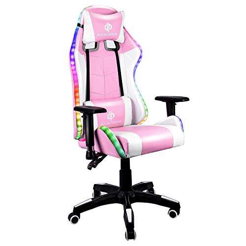 Boomersun Gaming Chair with RGB Light Ergonomic Office Chair Racing Style...