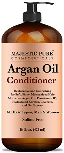 Majestic Pure Argan Oil Hair Conditioner with Keratin - Natural for All Hair Types, Women and Men,...