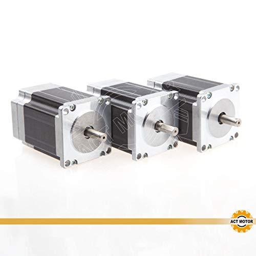 ACT MOTOR GmbH Nema23 - 3 motori BLDC 57BLF03 101 mm 24 VDC 3000 RPM 12 A 188 W Ø 8 mm D-Shaft CNC OEM
