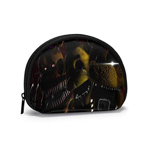 Game Five Nights at Freddy Shell Bolsa de almacenamiento para mujeres y niñas, linda moda con cremallera monedero monedero monedero bolsa de cambio multifunción bolsa organizador