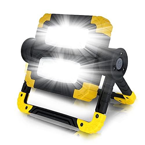 GDYJP Linterna de Camping MAZORCA Lámpara de Trabajo DIRIGIÓ Linterna portátil Impermeable Foco de Foco de 3 Modos para la luz de Pesca para Acampar (Color : Yellow)