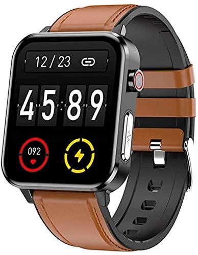 ALXLX Deportes Smart Watch E86 Ritmo Cardíaco Y Monitoreo Reloj Digital Reloj Deportivo Pulsera Smart Watch Android iOS, B
