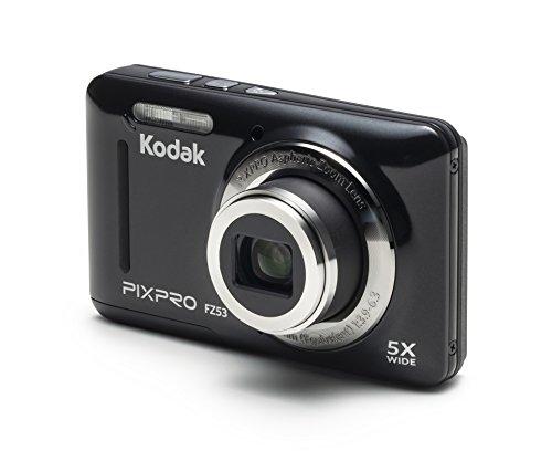 Kodak PIXPRO Friendly Zoom FZ53-BK 16MP Digital Camera with 5X Optical Zoom and 2.7'...