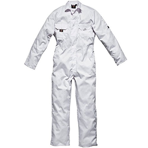 Dickies Redhawk - Mono de Trabajo para Hombre, Color Blanco, Talla Medium