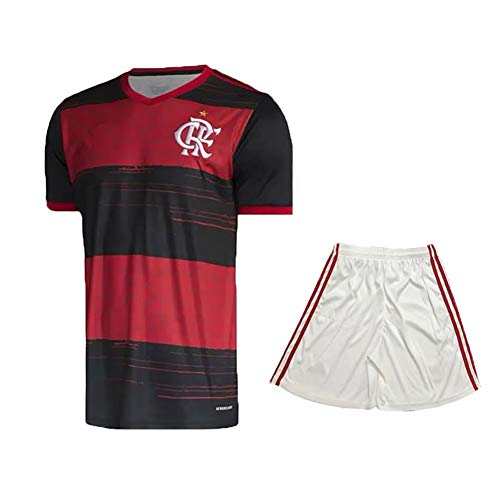 BAODANBA 20-21 New Adult Football Short Sleeve Jerseys, Sportswear Training Clothes Youth Clothing (M) Red Black