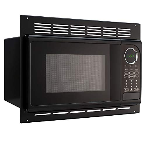 RecPro RV Microwave | .9 Cubic Ft Black Microwave with Trim Kit | 900 Watt (RPM-1-BLK) | Direct Replacement for High Pointe and GreyStone