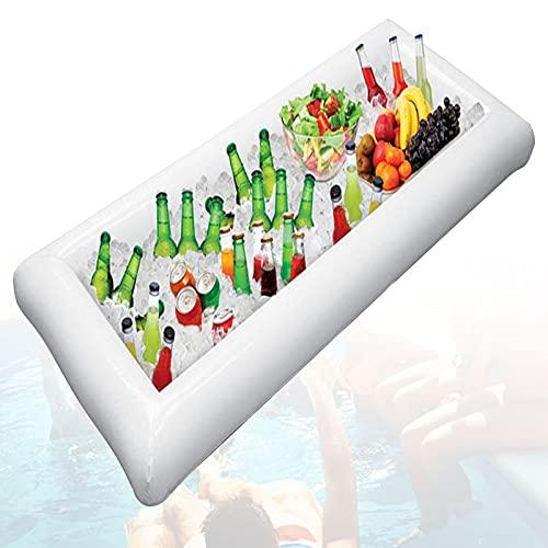 EFGS Ligera Hinchables Bebida Piscina, Exterior Piscina Posavasos con Refrigerador Largo y Tapón de Drenaje, Flotador Vaso Piscina para Botella cervez