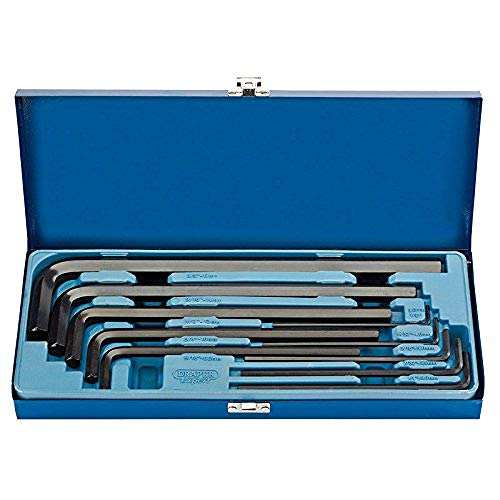 Expert Draper Tools 33895 10 pièces Extra longues métriques de jeu de clés Allen
