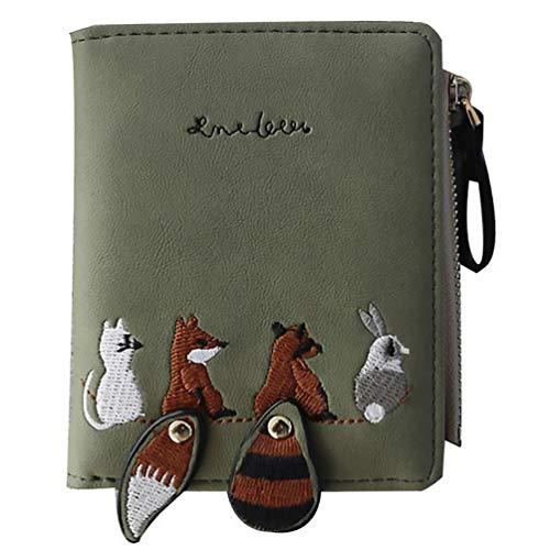 VALICLUD Reißverschluss um Brieftasche Tierwechsel Geldbörse Pu Leder Kartenhalter Tasche mit Armband Geschenke für Mädchen Einkaufen Reisen Geburtstagsfeier