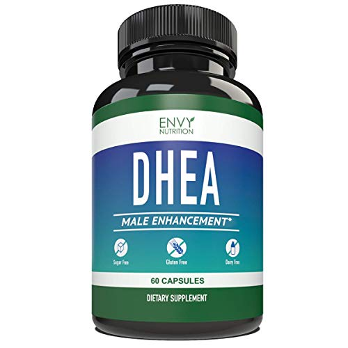 DHEA 50mg Male Enhancement Capsules - Best Supplement for Youthful Energy, Healthy Aging, Bone Mineral Density and Mood Support - 60 Capsules